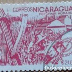 Sellos: SELLO NICARAGUA 1986 REFORMA AGRARIA 21.00. Lote 85966179