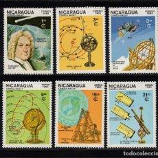 Sellos: NICARAGUA 1382/84 Y AEREO 1120/22** - AÑO 1985 - PASO DEL COMETA HALLEY. Lote 86077136