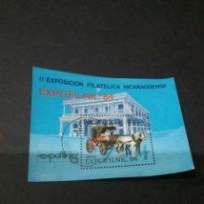 Sellos: HB NICARAGUA MATASELLADA. EXPOFILNIC, 84. 1984. . Lote 93882020