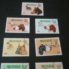 Sellos: SELLOS MATASELLADOS NICARAGUA. 7V 1982. PERROS.. Lote 93900267