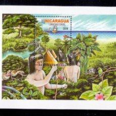 Sellos: NICARAGUA HOJA NUEVA DEL V CENTENARIO DEL DESCUBRIMIENTO DE NICARAGUA 2012. Lote 94464626