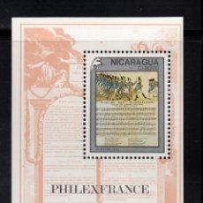 Sellos: NICARAGUA HB 193** - AÑO 1989 - BICENTENARIO DE LA REVOLUCION FRANCESA. Lote 94773339