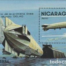 Sellos: (CF) NICARAGUA 1984, HB 75 ANIV. DE LA PRIMERA LÍNEA AÉREA (CTO) / CF4164. Lote 95026303