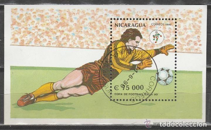 NICARAGUA. 1990. MHB. MUNDIAL FUTBOL ITALIA' 90. *.MH (Sellos - Extranjero - América - Nicaragua)