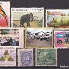 Sellos: NICARAGUA - LOTE 9 SELLOS DIFERENTES - USADO. Lote 98740171