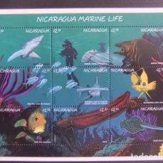 Sellos: NICARAGUA 1996 FAUNA VIDA MARINA PECES YVERT 2214 / 22 ** MNH. Lote 100546727