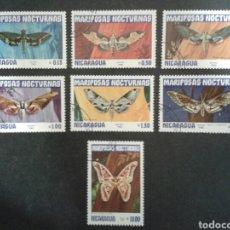 Sellos: NICARAGUA. YVERT 1239/44. SERIE COMPLETA USADA. FAUNA. INSECTOS. MARIPOSAS NOCTURNAS.. Lote 103811483
