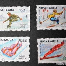 Sellos: SERIE COMPLETA 1983 NICARAGUA JUEGOS OLÍMPICOS INVIERNO. Lote 106064875