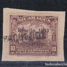Sellos: MARCA LINEAL DE PAQUEBOT SOBRE SELLO DE NICARAGUA . Lote 111597827