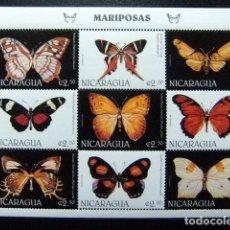 Sellos: NICARAGUA 1996 FAUNA BUTTERFLIES PAPILLONS FAUNA MARIPOSAS YVERT 2247K / 47T **MNH. Lote 113223223