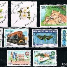 Sellos: NICARAGUA - LOTE DE 10 SELLOS - VARIOS (USADO) LOTE 11. Lote 114634267