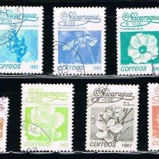 Sellos: NICARAGUA - LOTE DE 9 SELLOS - FLORES (USADO) LOTE 12. Lote 114634619