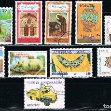 Sellos: NICARAGUA - LOTE DE 10 SELLOS - VARIOS (USADO) LOTE 14. Lote 114635863