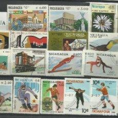 Sellos: LOTE DE SELLOS DE NICARAGUA. Lote 116936871