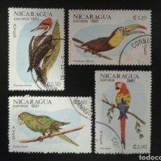 Sellos: NICARAGUA. YVERT 1161/4. SERIE COMPLETA USADA. FAUNA. AVES.. Lote 117413640