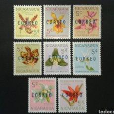 Sellos: NICARAGUA. YVERT 931/8. SERIE COMPLETA MAYORÍA ***, RESTO SIN GOMA. FLORES. FLORA. SOBRECARGADOS.. Lote 117414534