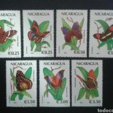 Sellos: NICARAGUA. YVERT 1582/8. SERIE COMPLETA NUEVA SIN CHARNELA. FAUNA. INSECTOS. MARIPOSAS.. Lote 118040260
