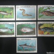 Sellos: NICARAGUA. YVERT 1474/6 + A-1205/8. SERIE COMPLETA NUEVA SIN CHARNELA. FAUNA. PECES. Lote 118040280