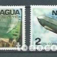 Sellos: NICARAGUA,1977,75 ANIVERSARIO DE LOS ZEPPELLIN,NUEVOS,MNH**,YVERT 1064-1065. Lote 119410143