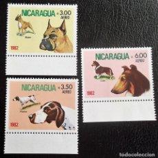 Sellos: NICARAGUA. A 981/3 PERROS: BOXER, POINTER Y COLLEY. 1982. SELLOS NUEVOS Y NUMERACIÓN YVERT.. Lote 119441904