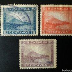 Sellos: NICARAGUA. YVERT 176/8. SERIE COMPLETA MAYORÍA SIN GOMA.. Lote 120587150