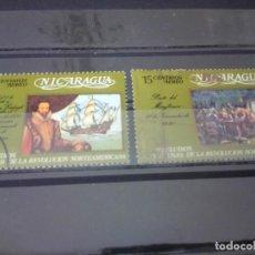 Francobolli: NICARAGUA, PRELUDIO DE LA REVOLUCIÓN AMERICANA, EL MAYFLOWER Y SIR W RALEIG. Lote 125088859