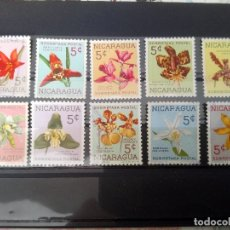Sellos: NICARAGUA, TASAS, FLORES. Lote 125087927