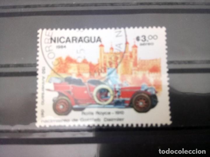 NICARAGUA, 150 ANIVERSARIO DEL NACIMIENTO DE G. DIÉSEL. - ROLLS ROYCE 1910, SELLO DE 1984 (Sellos - Extranjero - América - Nicaragua)