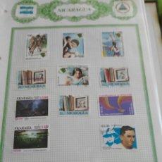 Sellos: LOTE 11 SELLOS NICARAGUA. Lote 130834123