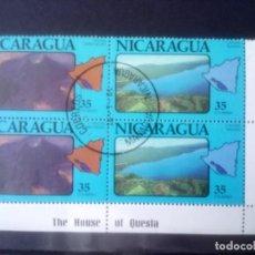 Sellos: NICARAGUA 1981, **VOLCAN CERRO NEGRO Y LAGUNA MASAYA. Lote 133308030