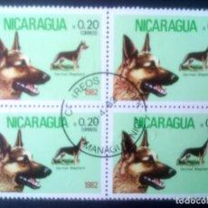 Sellos: NICARAGUA 1982,** PERRO PASTOR ALEMÁN . Lote 133308210