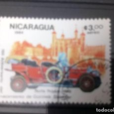 Sellos: NICARAGUA 1984, COCHES ANTIGUOS, ROLLS ROYCE 1910. Lote 133629550
