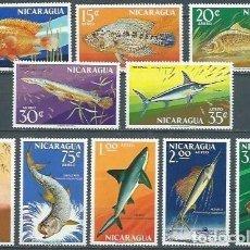 Sellos: NICARAGUA,1969,PECES DIVERSOS,NUEVO,MNH**,YVERT 635-644. Lote 154465222