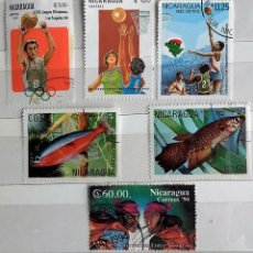 Sellos: NICARAGUA, 6 SELLOS USADOS DIFERENTES . Lote 141187426