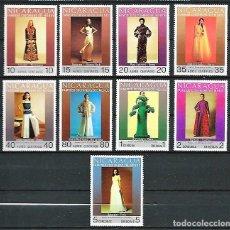 Sellos: NICARAGUA,MODA FEMENINA,1973,YVERT 939-941 Y 789-794 AÉREOS. Lote 143833766
