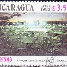 Sellos: 1982 - NICARAGUA - TURISMO - PARQUE LUIS A.VELAZQUEZ - MANAGUA - YVERT PA 998. Lote 149378550