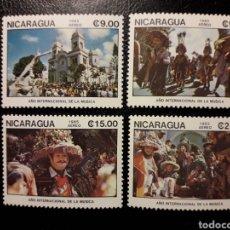 Sellos: NICARAGUA. YVERT A-1112/5 SERIE COMPLETA NUEVA SIN CHARNELA. DANZAS Y BAILES. FOLCLORE.. Lote 149388136