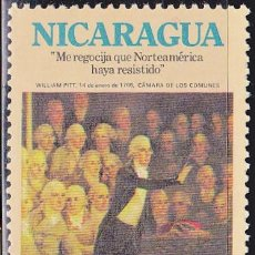 Sellos: 1975 - NICARAGUA - BICENTENARIO INDEPENDENCIA EEUU - WILLIAM PITT - YVERT 999. Lote 149447674