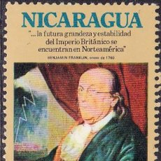 Sellos: 1975 - NICARAGUA - BICENTENARIO INDEPENDENCIA EEUU - BENJAMIN FRANKLIN - YVERT 1006. Lote 149447822