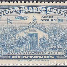 Sellos: 1939 - NICARAGUA - HOMENAJE A WILL ROGERS - YVERT PA 209. Lote 149453382