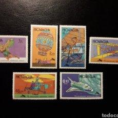 Sellos: NICARAGUA. YVERT 1110/3 + A-914/5 SERIE COMPLETA NUEVA ***. PIONEROS DE LA AVIACIÓN. HERMANOS WRIGHT. Lote 151339248