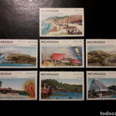 Sellos: NICARAGUA. YVERT 1514 + A-1272/6 SERIE COMPLETA NUEVA SIN CHARNELA. TURISMO. FAUNA. Lote 151339272