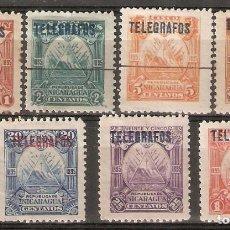 Sellos: NICARAGUA.1895. TELÉGRAFOS. YT 41,42,43,44,45,46,48. Lote 153588054