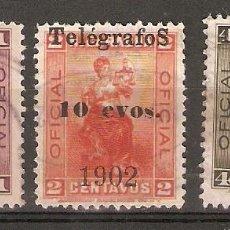 Sellos: NICARAGUA.1902 TELÉGRAFOS. YT 78,79,80. Lote 153589830