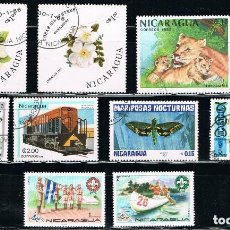Sellos: NICARAGUA - LOTE DE 10 SELLOS (VARIOS) LOTE 11. Lote 154105526