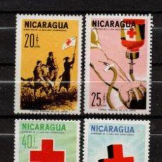 Sellos: NICARAGUA AEREO 528/31** - AÑO 1965 - CENTENARIO DE LA CRUZ ROJA INTERNACIONAL. Lote 157724542