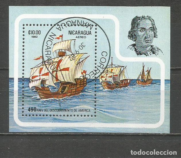 NICARAGUA HOJA BLOQUE YVERT NUM. 153 MATASELLADA DESCUBRIMIENTO DE AMERICA LA SANTA MARIA (Sellos - Extranjero - América - Nicaragua)