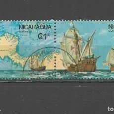Sellos: NICARAGUA DESCUBRIMIENTO DE AMERICA YVERT NUM. 1433/1434 SERIE COMPLETA MATASELLADA. Lote 189411367