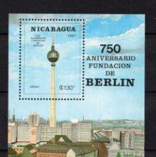 Sellos: NICARAGUA HB 180** - AÑO 1987 - 750º ANIVERSARIO DE BERLIN. Lote 165493942