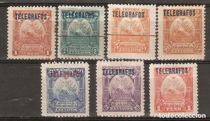 NICARAGUA.1895. TELÉGRAFOS. YT 41,42,43,44,45,46,48 (Sellos - Extranjero - América - Nicaragua)